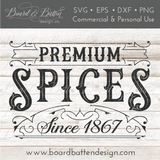 Premium Spices Vintage Label SVG File - Commercial Use SVG Files