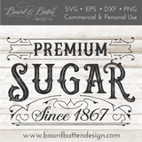 Premium Sugar Vintage Label SVG File - Commercial Use SVG Files