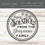 Round Personalizable Happy Solstice SVG File - Commercial Use SVG Files