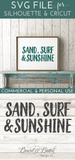 Sand, Surf, Sunshine SVG File - Commercial Use SVG Files