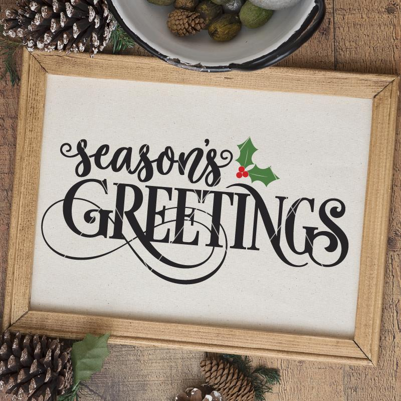 Season's Greetings SVG File - Commercial Use SVG Files