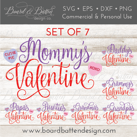 Mommy's Valentine Set of 7