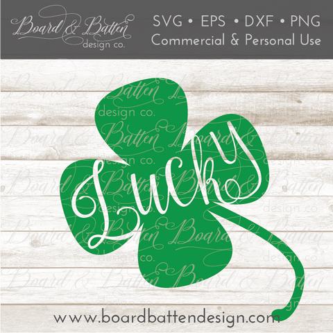 Lucky Shamrock SVG File