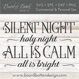 Silent Night Christmas Song SVG File - Commercial Use SVG Files