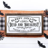 Sleepy Hollow Dead & Breakfast SVG File for Halloween - Commercial Use SVG Files