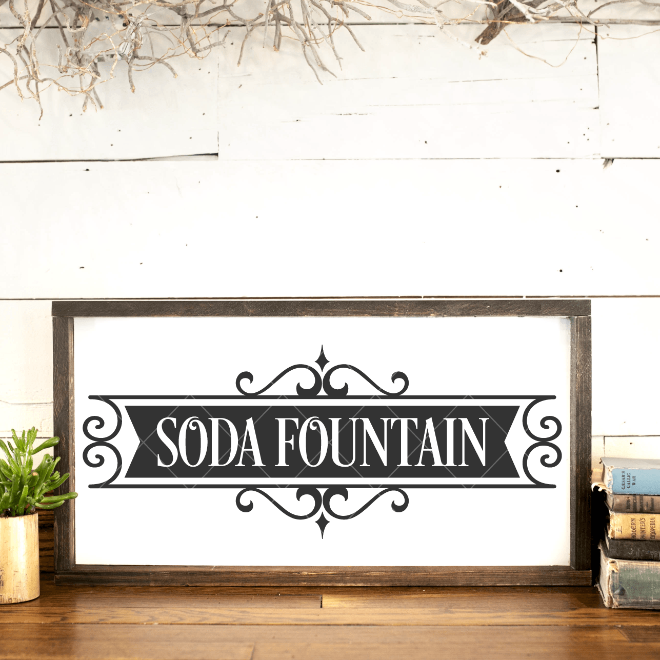 Vintage Soda Fountain SVG Cut File for Cricut/Silhouette