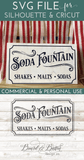 Vintage Soda Fountain SVG File - Commercial Use SVG Files