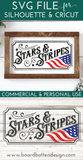 Vintage Patriotic Stars and Stripes SVG File - Commercial Use SVG Files