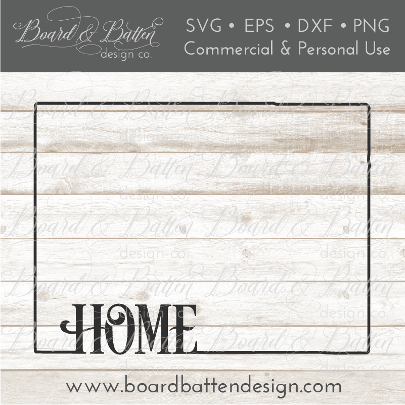 "State Outline ""Home"" SVG File - CO Colorado - Commercial Use SVG Files"