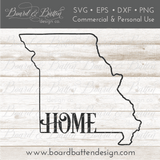 "State Outline ""Home"" SVG File - MO Missouri - Commercial Use SVG Files"