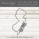 "State Outline ""Home"" SVG File - NJ New Jersey - Commercial Use SVG Files"
