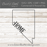 "State Outline ""Home"" SVG File - NV Nevada - Commercial Use SVG Files"