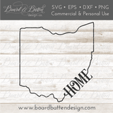 "State Outline ""Home"" SVG File - OH Ohio - Commercial Use SVG Files"