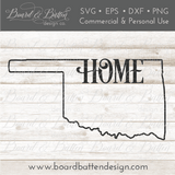 "State Outline ""Home"" SVG File - OK Oklahoma - Commercial Use SVG Files"