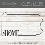 "State Outline ""Home"" SVG File - PA Pennsylvania - Commercial Use SVG Files"