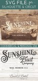 Sunshine Fruit Company Box Label SVG - Commercial Use SVG Files