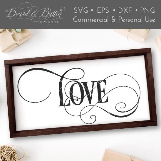 Single Word Love SVG File - WS5 - Commercial Use SVG Files