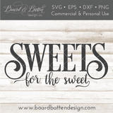 Sweets for the Sweet Halloween Candy Bowl SVG File - Commercial Use SVG Files