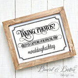 Taking Photos Wedding Hashtag SVG File - WS5