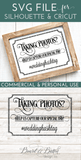 Taking Photos Wedding Hashtag SVG File - WS5 - Commercial Use SVG Files