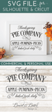 Editable Thanksgiving Pie Company Vintage SVG File - Commercial Use SVG Files