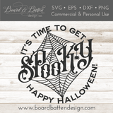 Time To Get Spooky SVG Cut File for Halloween Cricut/Silhouette Projects