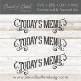 Today's Menu SVG File Bundle - Commercial Use SVG Files