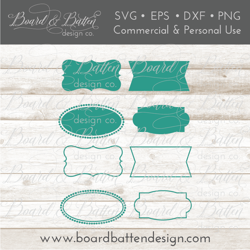 Vector Label SVG Frames - Commercial Use SVG Files