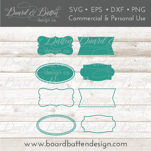 Vector Label SVG Frames