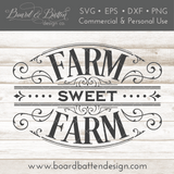 Victorian Style Farm Sweet Farm SVG File - Commercial Use SVG Files