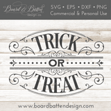 Victorian Goth Style Trick or Treat SVG File for Halloween