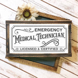 Vintage Style EMT Emergency Medical Technician SVG File