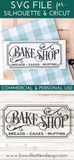 Vintage Bake Shop 12x24 SVG File - Commercial Use SVG Files