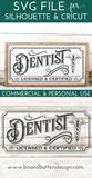 Vintage Dentist Sign SVG File
