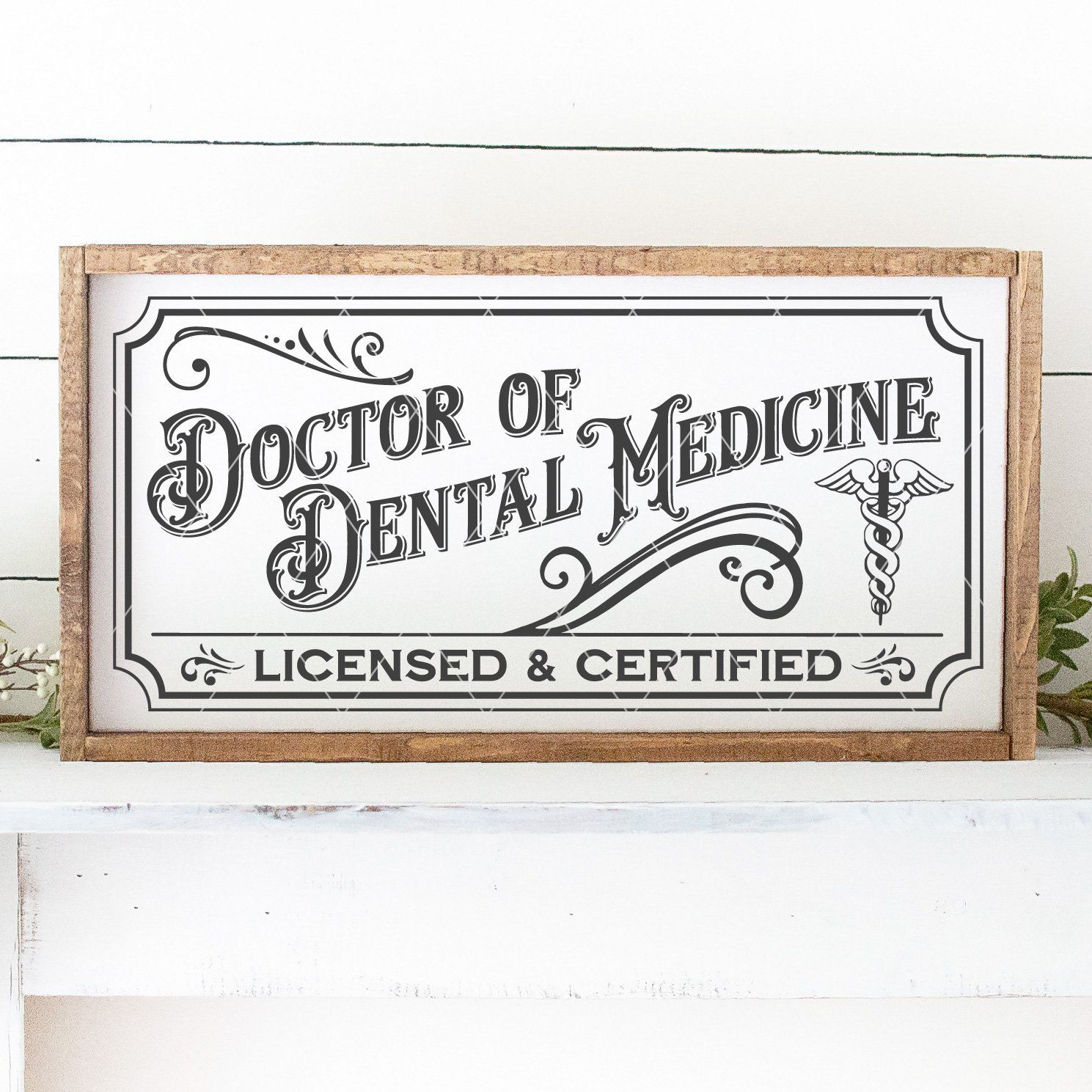 Vintage Doctor of Dental Medicine Sign SVG File - Commercial Use SVG Files