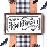 Vintage Happy Halloween SVG File - 12x24 Size - Commercial Use SVG Files
