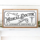 Vintage Medical Doctor Sign SVG File - Commercial Use SVG Files