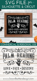 Vintage Palm Reading Sign SVG File for Halloween - Commercial Use SVG Files