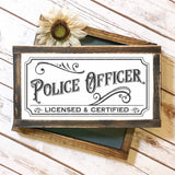 Vintage Style Police Officer Sign SVG File