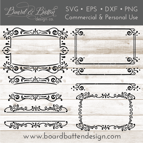 Vintage Sign Frames Style 3 SVG File Set
