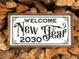 Vintage Welcome New Year SVG File with Number Alternates - Commercial Use SVG Files