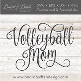 Volleyball Mom SVG File - Commercial Use SVG Files