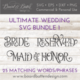 Wedding Words SVG File Bundle Style 1 - Commercial Use SVG Files