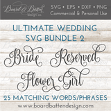 Wedding Words SVG File Bundle Style 2 - Commercial Use SVG Files