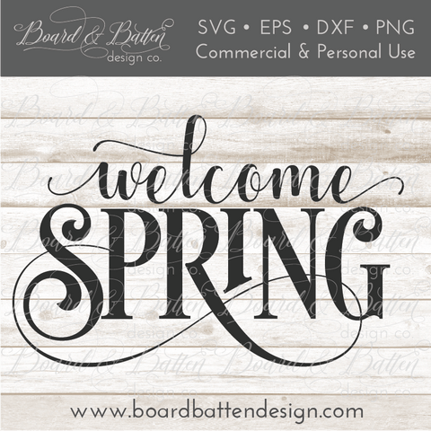 Welcome Spring 2 SVG File