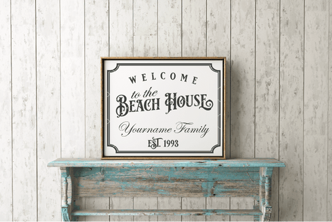 Welcome To The Beach House Customizable SVG File