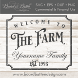 Welcome To The Farm Personalizable SVG File - Commercial Use SVG Files