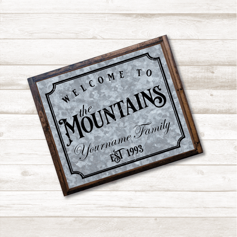 Welcome To The Mountains Personalizable SVG File
