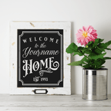Welcome To Yourname Home With Est Date SVG