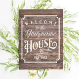 Welcome To Yourname House With Est Date SVG